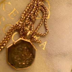 KENDRA SCOTT Rose Gold Drusy Geode Adj length